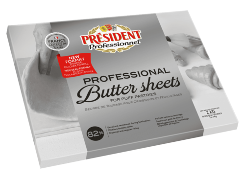 總統牌82%無鹽片裝奶油<br>PRESIDENT TOURAGE UNSALTED NOT COLORED BUTTER 82%<br>  |乳製品|奶油