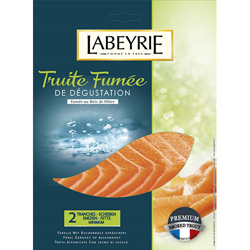 LABEYRIE切片75G煙燻鱒魚<br>LABEYRIE SMOKED TROUT<br>示意圖